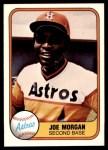 1981 Fleer #78  Joe Morgan  Front Thumbnail