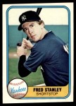 1981 Fleer #100  Fred Stanley  Front Thumbnail