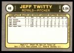 1981 Fleer #49  Jeff Twitty  Back Thumbnail