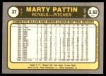 1981 Fleer #37  Marty Pattin  Back Thumbnail