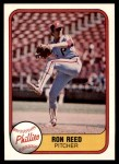1981 Fleer #11  Ron Reed  Front Thumbnail
