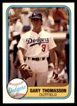 1981 Fleer #138  Gary Thomasson  Front Thumbnail