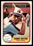 1981 Fleer #164  Tommy Hutton  Front Thumbnail