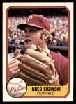 1981 Fleer #10  Greg Luzinski  Front Thumbnail