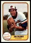 1981 Fleer #169  Jim Palmer  Front Thumbnail