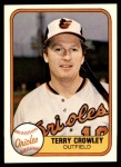 1981 Fleer #190  Terry Crowley  Front Thumbnail
