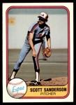 1981 Fleer #166  Scott Sanderson  Front Thumbnail