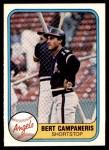 1981 Fleer #280  Bert Campaneris  Front Thumbnail