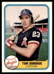 1981 Fleer #281  Tom Donohue  Front Thumbnail
