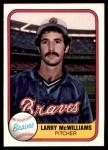 1981 Fleer #267  Larry McWilliams  Front Thumbnail