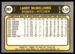 1981 Fleer #267  Larry McWilliams  Back Thumbnail