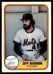 1981 Fleer #335  Jeff Reardon  Front Thumbnail