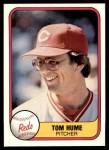 1981 Fleer #211  Tom Hume  Front Thumbnail