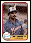 1981 Fleer #252  Chris Chambliss  Front Thumbnail