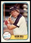 1981 Fleer #343  Kevin Bell  Front Thumbnail