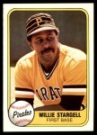 1981 Fleer #363  Willie Stargell  Front Thumbnail