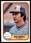 1981 Fleer #263  Rick Matula  Front Thumbnail