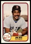 1981 Fleer #222  Jim Rice  Front Thumbnail