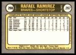 1981 Fleer #266  Rafael Ramirez  Back Thumbnail