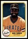 1981 Fleer #360  Dave Parker  Front Thumbnail