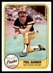 1981 Fleer #364  Phil Garner  Front Thumbnail