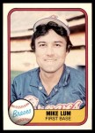 1981 Fleer #258  Mike Lum  Front Thumbnail
