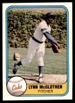 1981 Fleer #302  Lynn McGlothen  Front Thumbnail