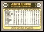 1981 Fleer #203  Junior Kennedy  Back Thumbnail