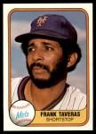 1981 Fleer #320  Frank Taveras  Front Thumbnail