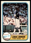 1981 Fleer #350  Lamar Johnson  Front Thumbnail
