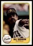 1981 Fleer #373  Bill Robinson  Front Thumbnail