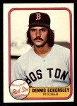 1981 Fleer #226  Dennis Eckersley  Front Thumbnail