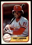 1981 Fleer #539  Terry Landrum  Front Thumbnail