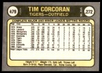 1981 Fleer #479  Tim Corcoran  Back Thumbnail