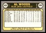 1981 Fleer #422  Alvis Woods  Back Thumbnail