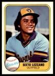 1981 Fleer #513  Sixto Lezcano  Front Thumbnail