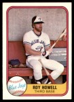 1981 Fleer #417  Roy Howell  Front Thumbnail