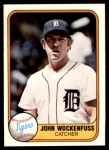 1981 Fleer #472  John Wockenfuss  Front Thumbnail