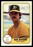 1981 Fleer #576  Dave Revering  Front Thumbnail