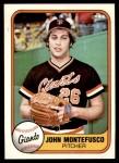 1981 Fleer #439  John Montefusco  Front Thumbnail