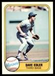 1981 Fleer #610  Dave Edler  Front Thumbnail