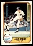 1981 Fleer #475  Jack Morris  Front Thumbnail