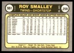 1981 Fleer #551  Roy Smalley  Back Thumbnail