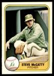 1981 Fleer #589  Steve McCatty  Front Thumbnail