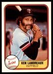 1981 Fleer #553  Ken Landreaux  Front Thumbnail