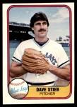 1981 Fleer #414  Dave Stieb  Front Thumbnail