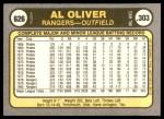 1981 Fleer #626  Al Oliver  Back Thumbnail