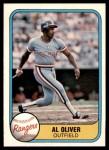 1981 Fleer #626  Al Oliver  Front Thumbnail