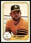 1981 Fleer #577  Jeff Newman  Front Thumbnail