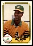 1981 Fleer #573  Mike Norris  Front Thumbnail